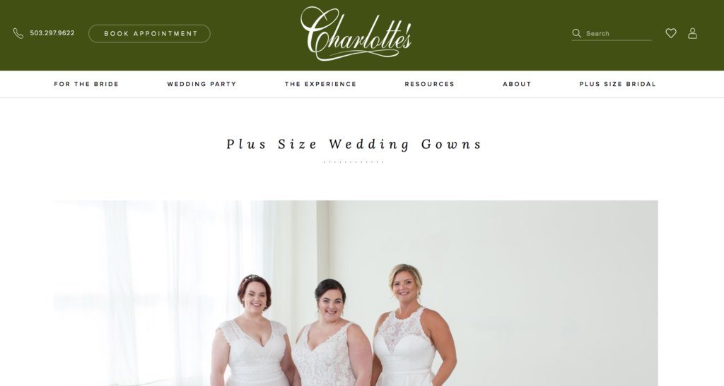 charlottes bridal salon plus size
